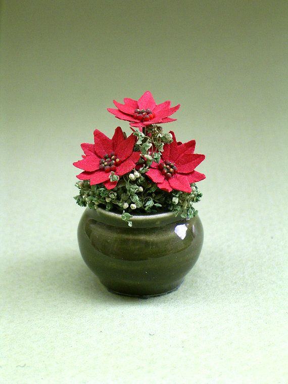 Hey, I found this really awesome Etsy listing at https://www.etsy.com/listing/164188385/poinsettia-flower-kit-for-112th-scale