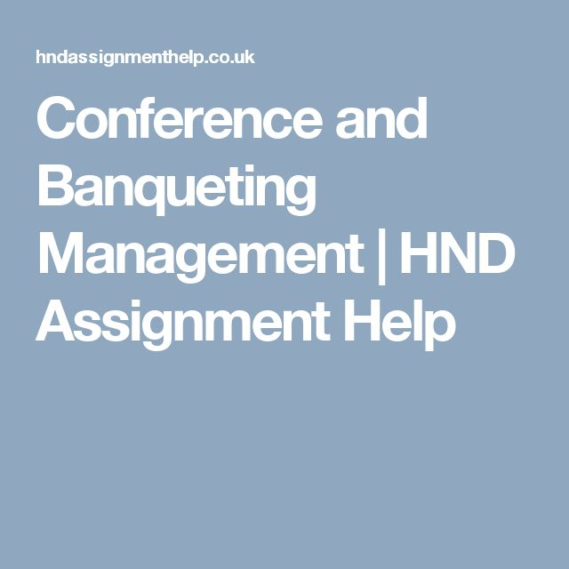Conference and Banqueting Management | HND Assignment Help