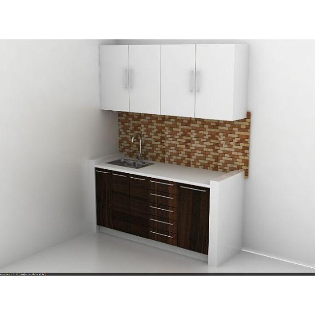 Simple Kitchen set Mix material. . . . . #clean #cleandesign #interior #interiordesign #simple #simpledesign #work #project #office #Kitchen #kitchenset #homedecor #homedecoration #3d #3drendering #furnituredesign #white #nofilter #pandumdesignworks