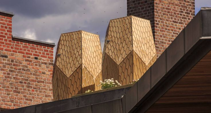 VULKAN BEEHIVE BY SOHETTA The New York and Oslo based design studio created a beehive design,installed in the rooftop of Dansen Hus, an Oslo based performance venue.