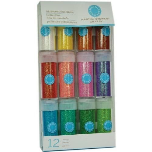 Martha-Stewart-Crafts-Iridescent-Glitter-12-Pack-New