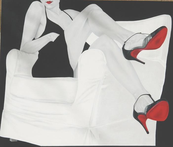 As pernas sensuais pintadas pela artísta Consuelo Mura. https://www.facebook.com/media/set/?set=a.366843830029916.81715.165353340178967=1