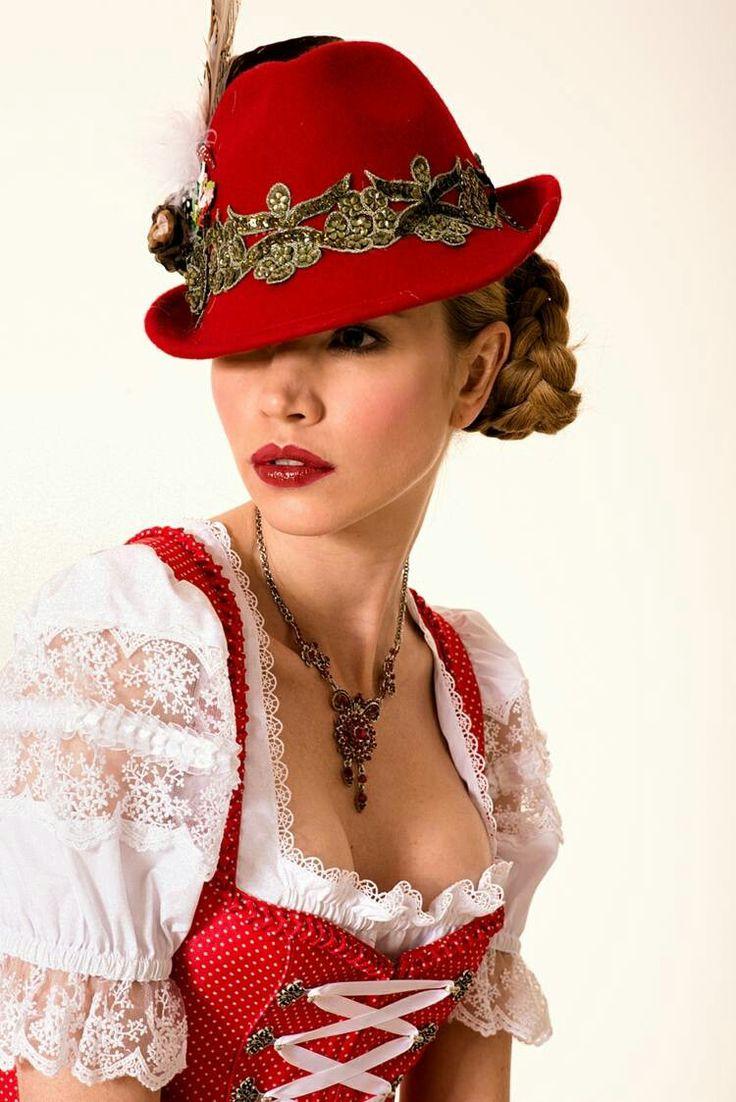 trachtenhut oktoberfest frisur austria swiss bavaria trachten hat tyrolean hat pinterest. Black Bedroom Furniture Sets. Home Design Ideas