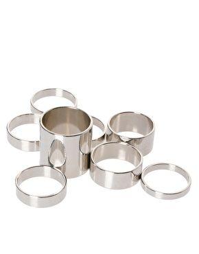 Enlarge ASOS Pack of 8 Smooth Rings