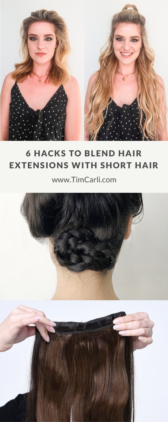 6 Hacks to Blend Hair Extensions With Short Hair