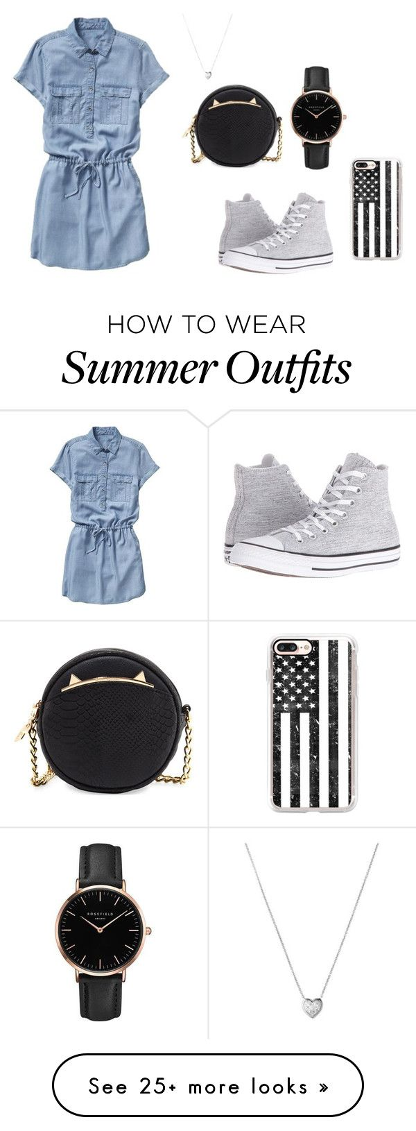 """""""Summer outfit"""" by chloe-denise-cheng-barraza on Polyvore featuring Gap, Converse, Betsey Johnson, Casetify, Links of London and Topshop"""