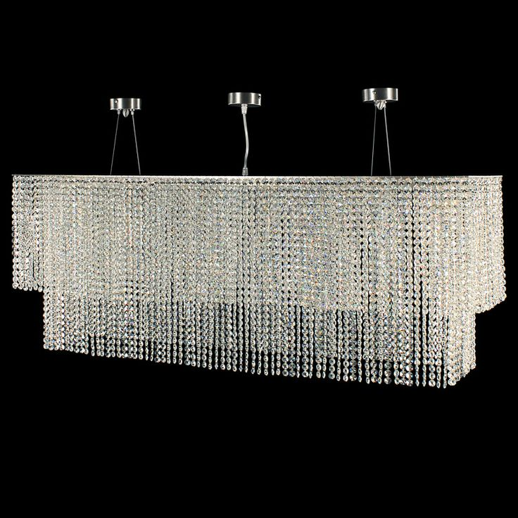 #Stratus collection. #Ceiling lamp fitted with #crystal cut glass. Brushed #nickel finish.