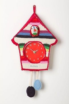 Hand-Crocheted Cuckoo Clock - eclectic - Cuckoo Clocks - Dallas - Smitten for the Wee Generation
