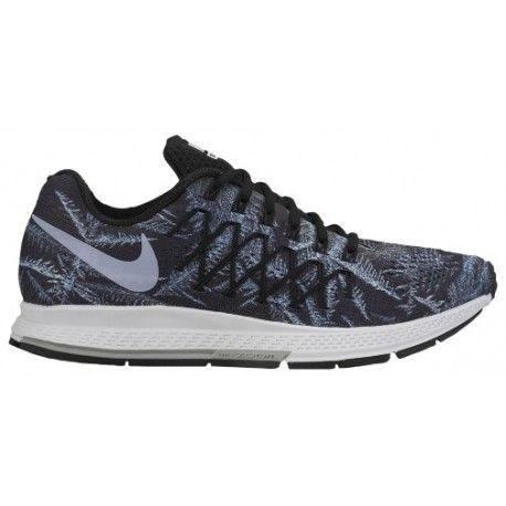 Womens Running Shoes - Nike Air Zoom Pegasus 32 - Black/Racer Blue/Sail/Chalk Blue : Running Shoes K