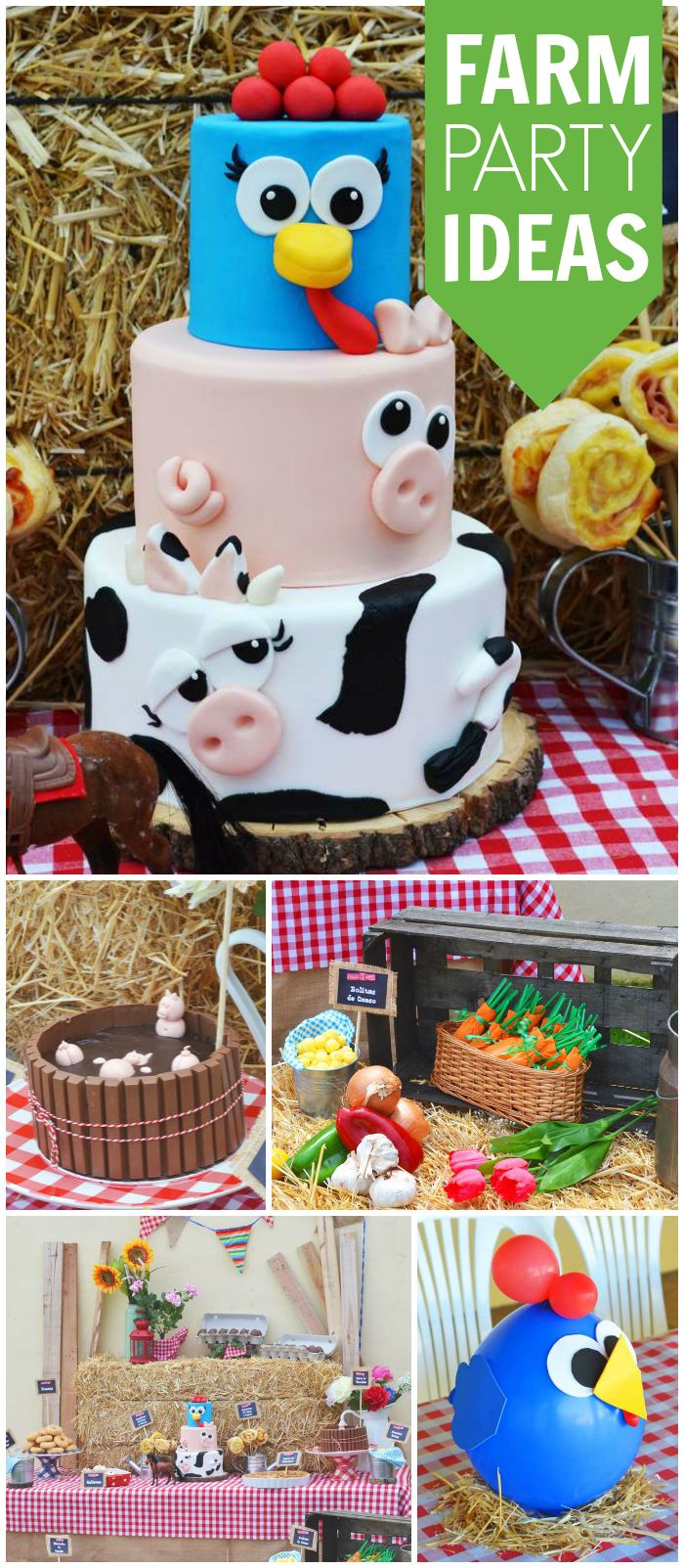 Isn't this farm party a great idea for a toddler birthday? See more party ideas at CatchMyParty.com!