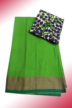 Mercerised cotton saree with floral printed kalamkari blouse material Price: 925/- (bulk buyers / wholesale / boutiques / Retail shops for trade  inquiries please contact our whatsapp no 8801302000)