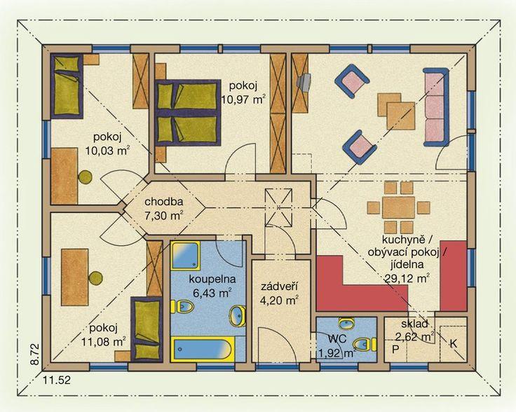 Rodinný dům Bungalov Line 84 – dřevostavba, bungalov na klíč