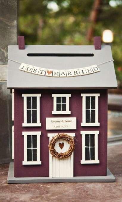 maison miniature urne mariage