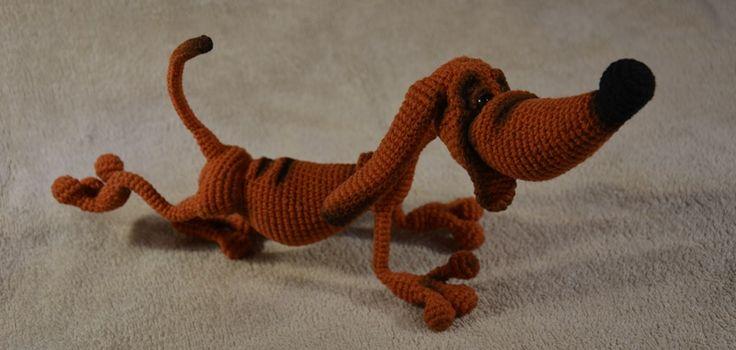 Crochet amigurumi dachshund LittleOwlsHut