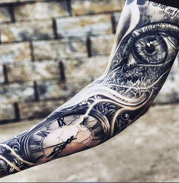 Keep an eye on time tattoo
