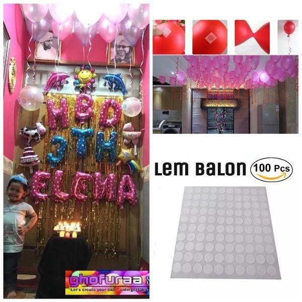 Jual Beli Ballon Glue Dot / Lem Balon / Perekat Balon / Alternatif Pengganti Helium / Dekorasi Pesta  Baru   Peralatan Dekorasi Rumah Murah    Bukalapak