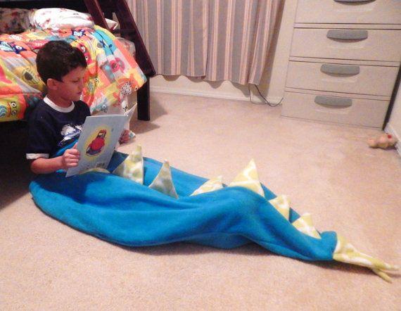 Fleece Tail blankets: Mermaid Dinosaur Dragon by NotionsbyD
