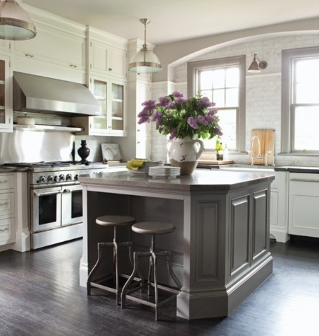 Kitchen Home Mi Casa Pinterest Gray Island Gray