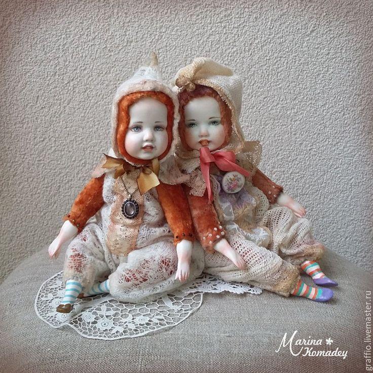 Купить Тедди-долл гномики - бежевый, тедди-долл, тедди долл, кукла тедди-долл