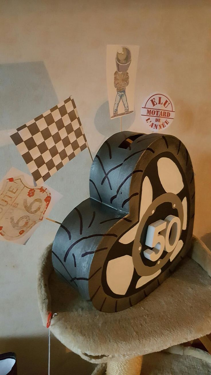 Les 25 meilleures id es de la cat gorie anniversaire motard sur pinterest anniversaire biker - Fabriquer une urne anniversaire ...