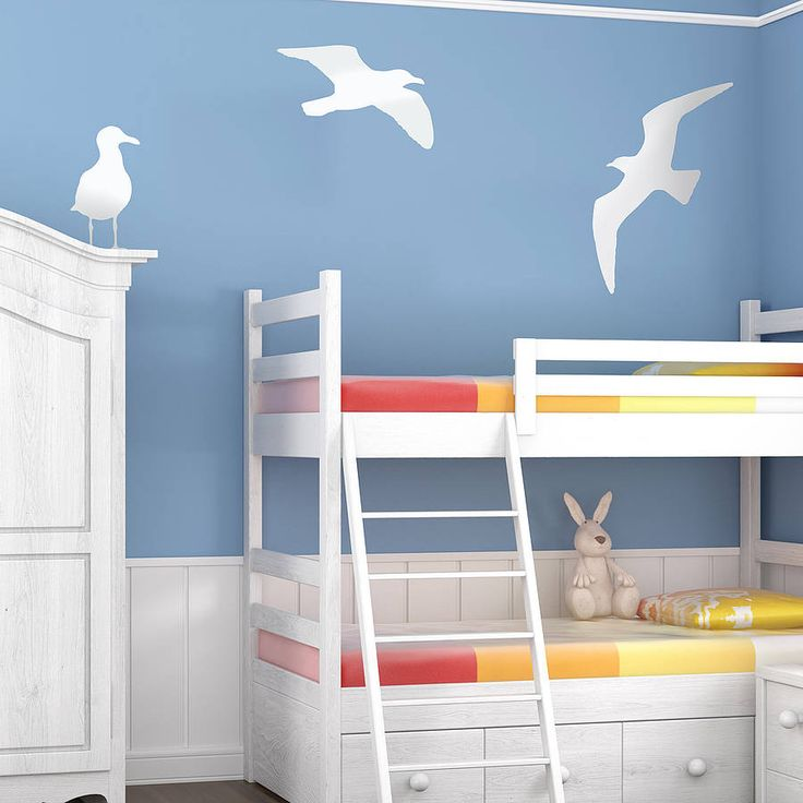 Thinking these seagull stickers might suit downstairs cloakroom. With a starfish and seashell loo seat.