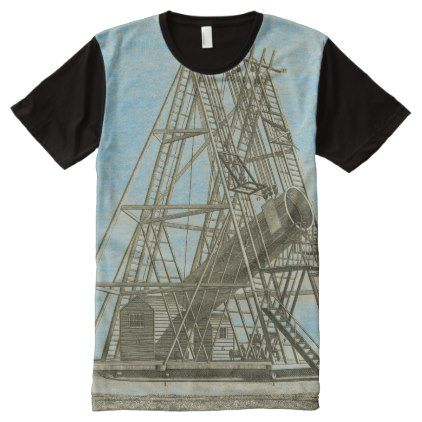 Telescope Antique SCIENCE EQUIPMENT 18TH CENTURY All-Over-Print T-Shirt - antique gifts stylish cool diy custom