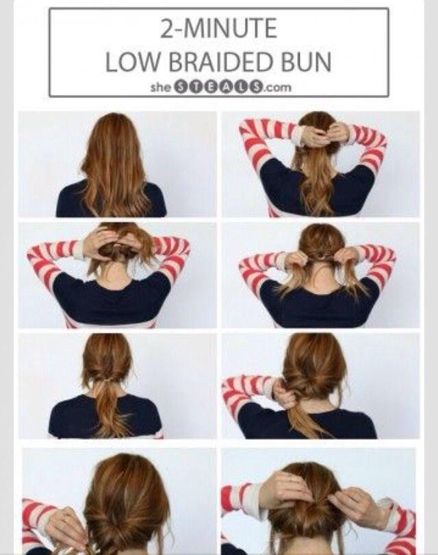 2 Minute Low Braided Bun ❤️ #Fashion #Beauty #Trusper #Tip