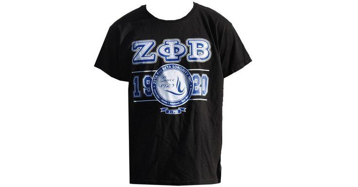Zeta Phi Beta Sorority Founding Year Shirt- Black - Brothers and Sisters' Greek Store