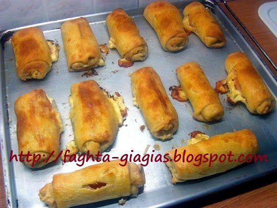 Ζαμπονοτυροπιτάκια με αφράτη ζύμη - Τα φαγητά της γιαγιάς