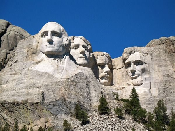 October 4, 1927, work began on the monument of Mount Rushmore dedicated to four America's greatest presidents