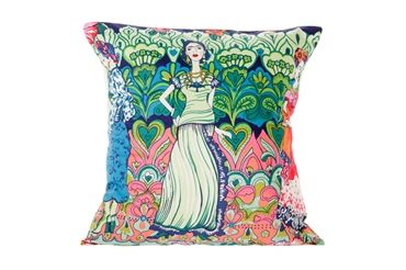 Frida Kahlo - Catrina - Cushion (blue)