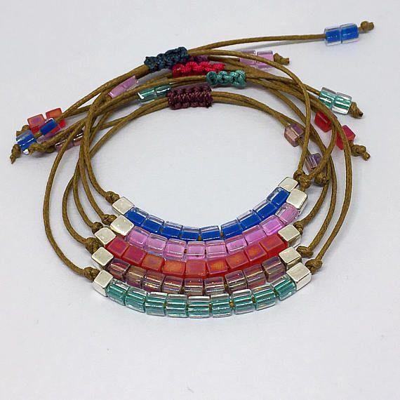 Minimalist Delicate Bracelet Friendship Yoga Bracelet Dainty #minimalistjewelry #yogabracelet #friendshipbracelets #summerstyle #giftforher #miyukibeads