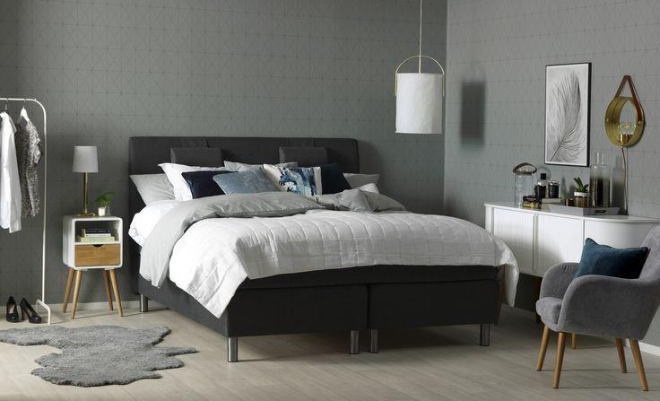 Cumulus Hjärtanäs säng. Retromodernt sovrum. Em home