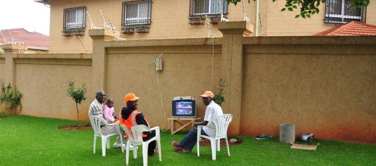 Photo of the Day: Only in South Africa! The TV is plugged into the electric fence