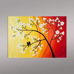 Kiraz Çiçekleri ve Aşık Kuşlar