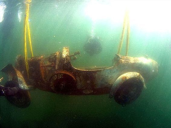 Titanic's car. The only car that I know of at the bottom of the ocean.