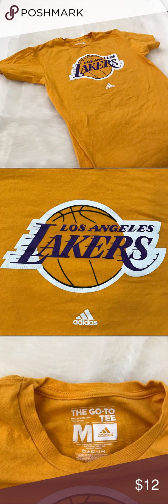 Nike Lakers T shirt Medium Lakers logo on a Nike to go tee shirt. Signs of distressed on logo as shown Nike Shirts Tees - Short Sleeve
