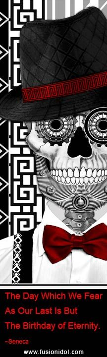 "1920's Sugar Skull Artwork ""Mr JD Vanderbone"" by artist Christopher Beikmann. Prints and gifts available from www.fusionidol.com #sugarskull"