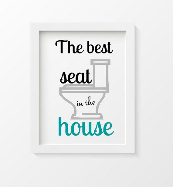 Printable Funny Bathroom Print Funny quote the by DIGIArtPrints