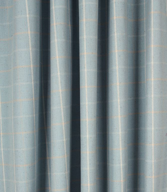 Save 38% on our Duck Egg Isla Check / Striped Fabric from Voyage Decoration; perfect for creating Curtains, Blinds & Upholstery.