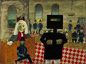 Australian Artist Sidney Nolan painted a series on Ned Kelly