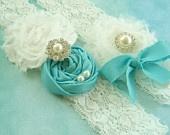 garter belt blue lacey