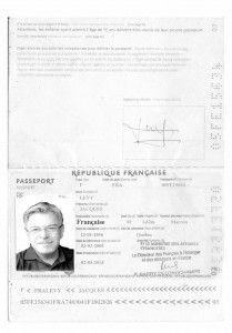 Le scansioni del mio passaporto.