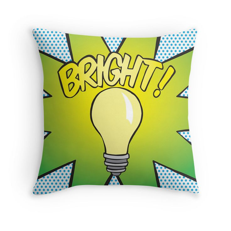 Throw Pillow - Bright! #popart #homedecor #redbubble