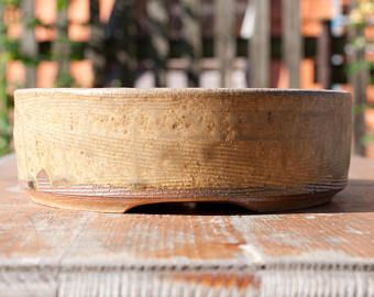BONSAI pot pottery stoneware ceramic woodfired FREE SHIPPING