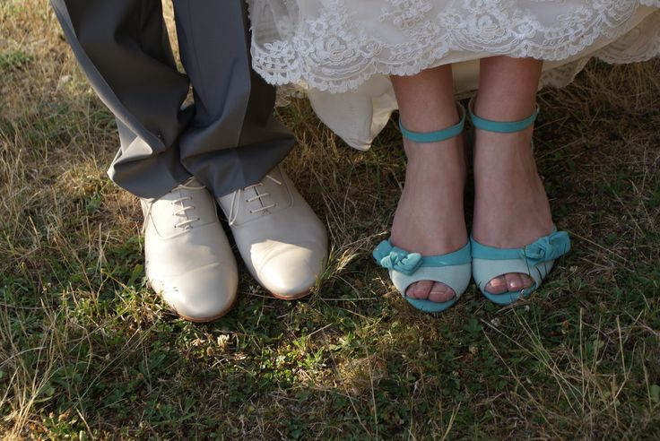 Mes chaussures du mariage. Ca peut choquer certaines ! ? Mais moi, je suis à la base une fille décalée...Lol
