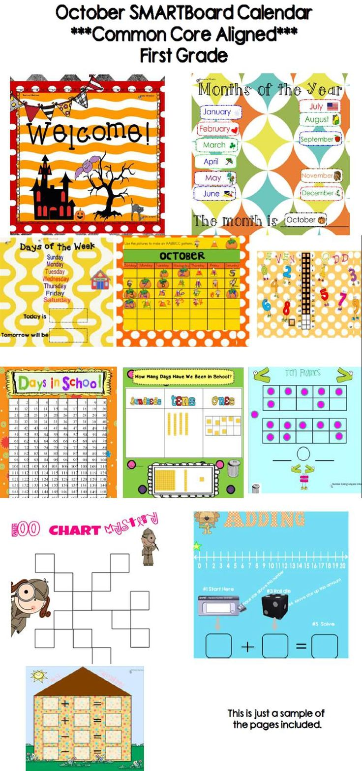 Kindergarten Calendar Time Smartboard : Best first grade calendar ideas on pinterest