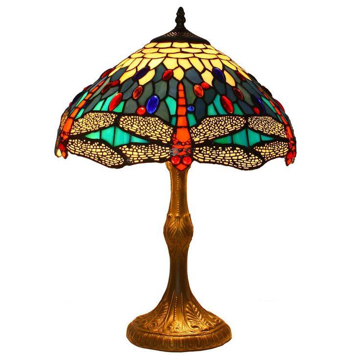 LAMPE TIFFANY SALON CHEVET PLAFONNIER LUSTRE H54CM *14038*: Amazon.fr: Cuisine & Maison