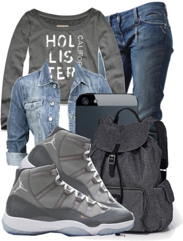 168766980f8 30 Cute Outfits Ideas to Wear with Jordans for Girls Swag