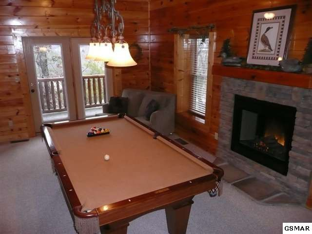 This is the way the game room looked when we acquired Bearfoot Lodge. Big difference to what it looks like today.  Post by Pat Kirchhoefer, owner  #mybearfootcabins #smokymountaincabinrentals #pigeonforgecabinrentals #cabinrentals #smokymountains #pigeonforgetn #bearfootlodge #coveredbridgeresort
